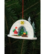 NEW - Christian Ulbricht German Ornament Igloo with Santa