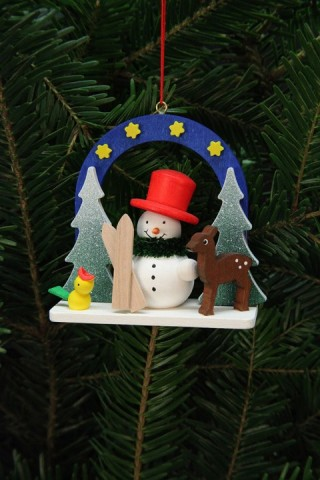 Christian Ulbricht German Ornament Starry Sky with Snowman - TEMPORARILY OUT OF STOCK