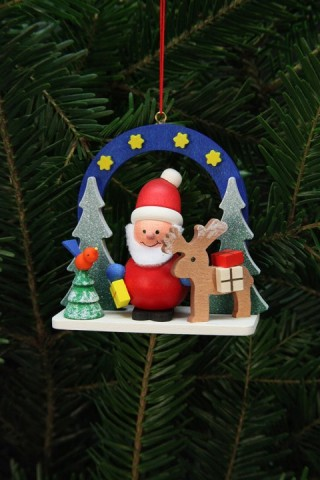 Christian Ulbricht German Ornament Starry Sky with Santa - TEMPORARILY OUT OF STOCK