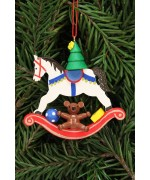 Christian Ulbricht German Ornament Tree on Rocking Horse
