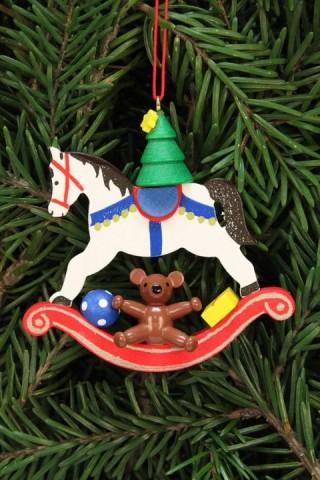 Christian Ulbricht German Ornament Tree on Rocking Horse