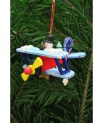 Christian Ulbricht German Ornament Snowman on Plane