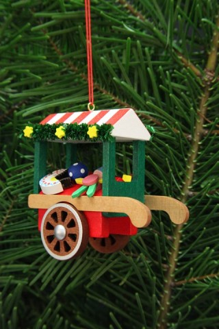 Christian Ulbricht German Ornament Toys Market Cart - TEMPORARILY OUT OF STOCK