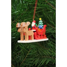 TEMPORARILY OUT OF STOCK - Christian Ulbricht German Ornament Santa in Sleigh