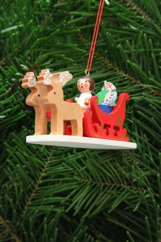 TEMPORARILY OUT OF STOCK - Christian Ulbricht German Ornament Angel in Sleigh
