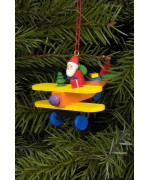 Christian Ulbricht German Ornament Santa in Plane