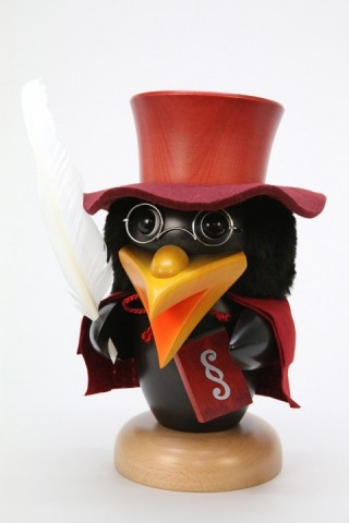 NEW - Christian Ulbricht Wooden Figure Raven