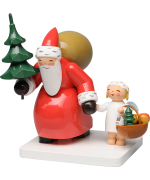 Wendt & Kuhn Santa with Tree and Angel Figurine