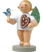 NEW - Wendt & Kuhn Angel with Gingerbread and Bird