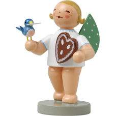 Wendt & Kuhn Angel with Gingerbread and Bird - TEMPORARILY OUT OF STOCK