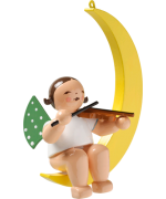 NEW - Wendt & Kuhn Ornament Angel with Violin in Moon