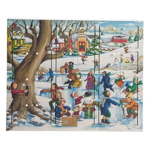 TEMPORARILY OUT OF STOCK - Byers Choice Advent Calendar Winter Fun