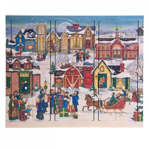 TEMPORARILY OUT OF STOCK - Byers Choice Advent Calendar Christmas Village