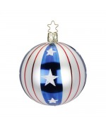 NEW - Inge-Glas Ornament Stars and Stripes Ball