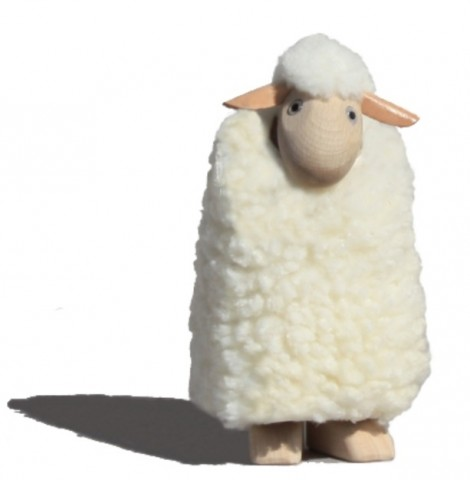 TEMPORARILY OUT OF STOCK - Meier Small White Sheep - removable Fleece