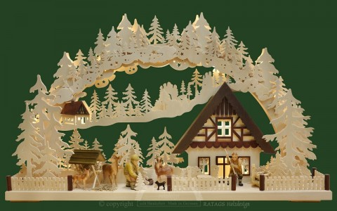 TEMPORARILY OUT OF STOCK Ratags Schwibbogen - Winter Scene