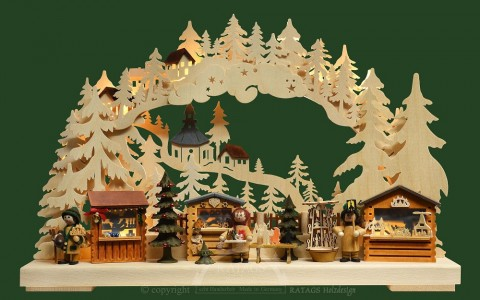 TEMPORARILY OUT OF STOCK - Ratags Schwibbogen - Christmas Market