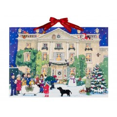 Alison Gardner Traditional Paper Advent Calendar Highgrove House at Christmas