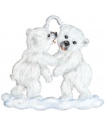 NEW - Polar Bear Cubs Christmas Pewter Wilhelm Schweizer