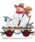 Train Car with Snowmen 2016 Christmas Pewter Wilhelm Schweizer - TEMPORARILY OUT OF STOCK
