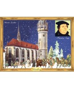 Old German Paper Advent Calendar Martin Luther