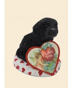 Byers Choice Valentine Dog