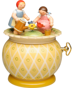 NEW - Wendt & Kuhn Two Girls Music Box