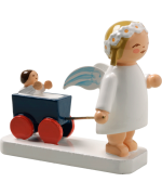 NEW - Wendt & Kuhn Miniature Angel with Doll Carriage