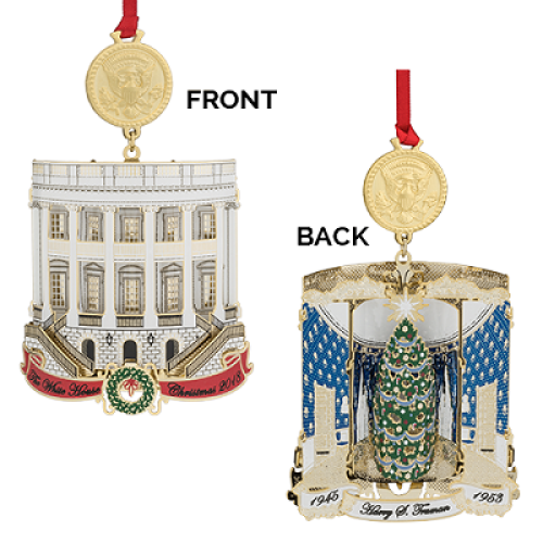 White House Christmas Ornament.New 2018 White House Historical Christmas Ornament Harry S Truman