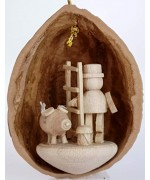 TEMPORARILY OUT OF STOCK - Walnut Shell Hanging Glücksbringern