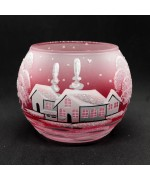 NEW - Christmas Easter Salzburg Hand Painted Tea Light Holder - Winter Forest