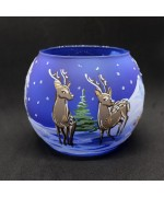 NEW - Christmas Easter Salzburg Hand Painted Tea Light Holder - Deer