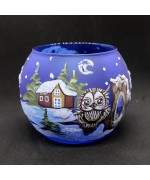NEW - Christmas Easter Salzburg Hand Painted Tea Light Holder - Owl
