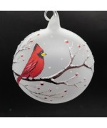 NEW - Christmas Easter Salzburg Hand Painted Ornament - Cardinal