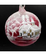 Christmas Easter Salzburg Hand Painted Ornament - Winter Forest - TEMPORARILY OUT OF STOCK