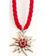 Red Edelweiss Swarovski Necklace