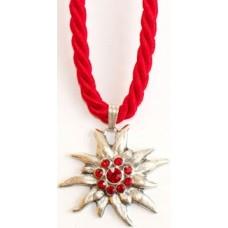 Red Edelweiss Swarovski Necklace