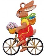 Wilhelm Schweizer Easter Oster Pewter Bunny on Bike