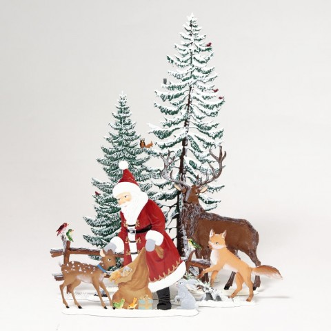 Santa in Winter Forest Wilhelm Schweizer Pewter Set - Weekly Special 4 - SOLD OUT