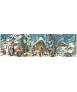NEW - Old German Paper Advent Calendar Panorama
