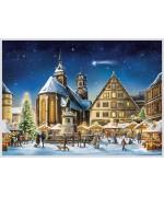 NEW - Old German Paper Advent Calendar Stuttgart