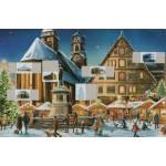 Old German Paper Advent Calendar Stuttgart