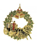 Beacon Design Christmas Horse and Buggy Ornament