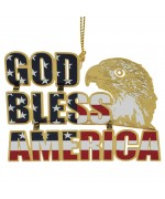 NEW - Beacon Design God Bless America Ornament