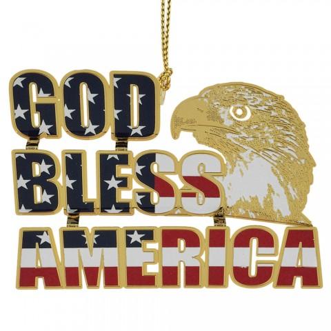 NEW - Beacon Design God Bless America Ornament