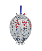 Beacon Design Patriotic 3D Egg Ornament