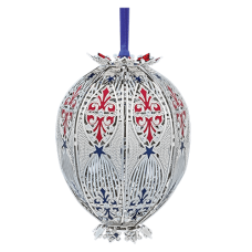 Beacon Design Patriotic 3D Egg Ornament