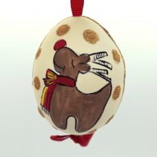 Christmas Easter Salzburg Hand Painted Easter Egg - Reindeer
