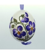 Christmas Easter Salzburg Hand Painted Easter Egg - Purple Flowers