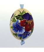 NEW - Christmas Easter Salzburg Hand Painted Easter Egg - Flowers